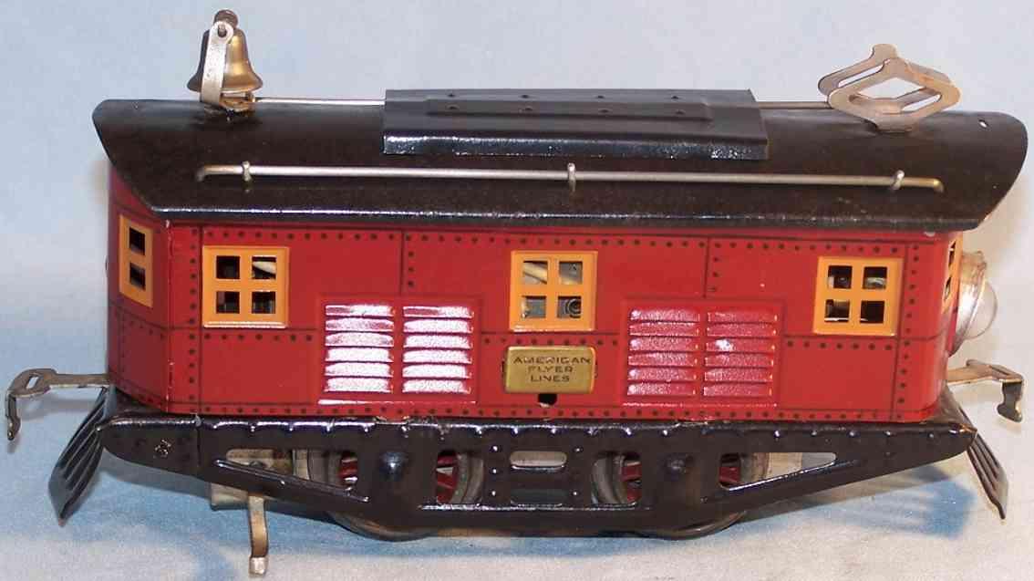 american flyer 3012 spielzeug eisenbahn elektro-lokomotive rot schwarz spur 0