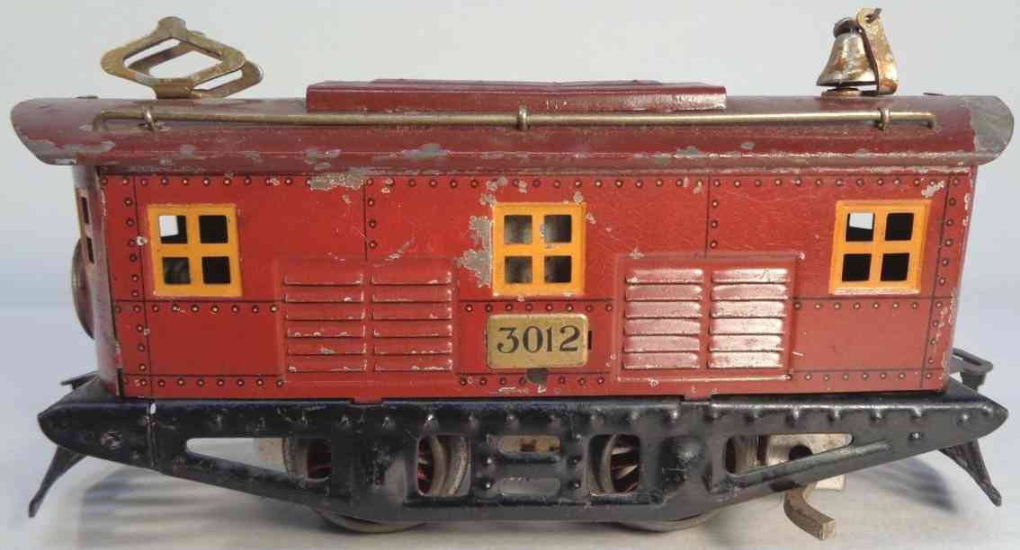 american flyer 3012 railway toy engine electric locomotive maroon gauge 0