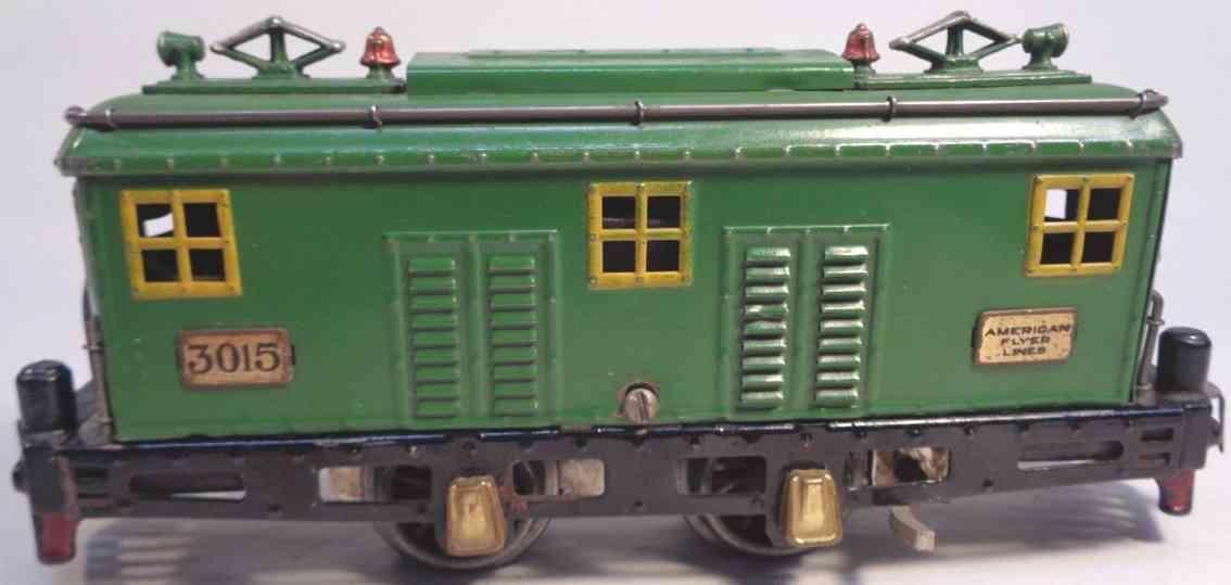 american flyer toy company 3015 engine electric locomotive green yellow gauge 0