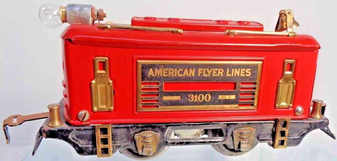 american flyer toy company 3100 spielzeug eisenbahn boxcab elektrolokomotive rot spur 0