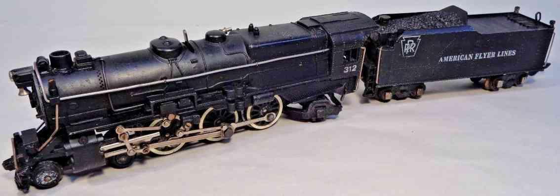 american flyer 312 prr spielzeug eisenbahn pacific lokomotive tender schwarz spur s