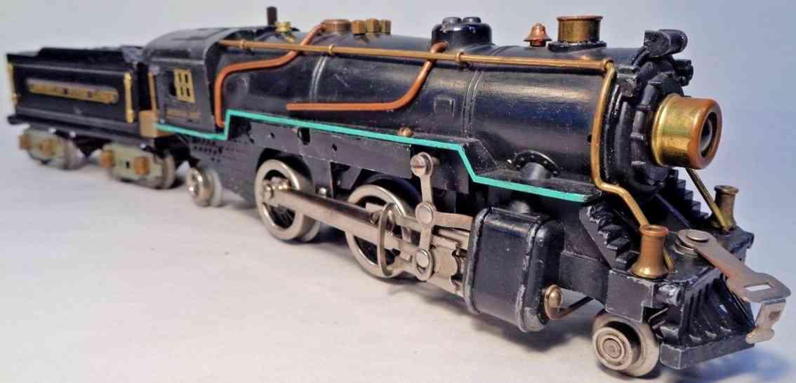american flyer toy company 3324 railway toy engine locomotive 3325 tender 3199 gauge 0
