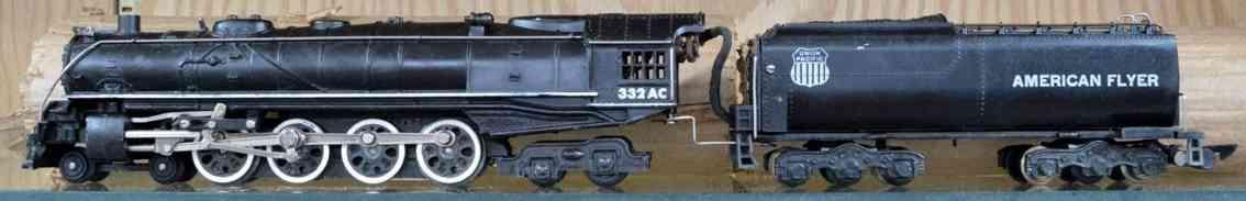 american flyer eisenbahn lokomotive tender 332ac druckguss schwarz spur s