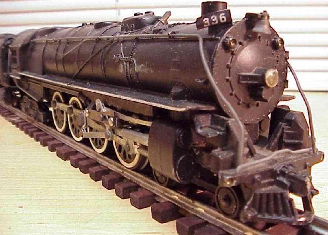 american flyer 336 spielzeug eisenbahn dampflokomotive schwarz spur 0