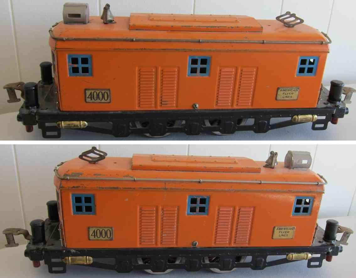 american flyer 4000 spielzeug eisenbahn elektrolokomtoive orange standard gauge