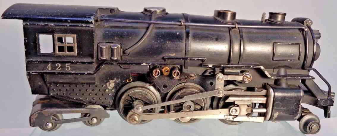 american flyer toy company 425 railway toy engine locomotive die-cast gauge 0
