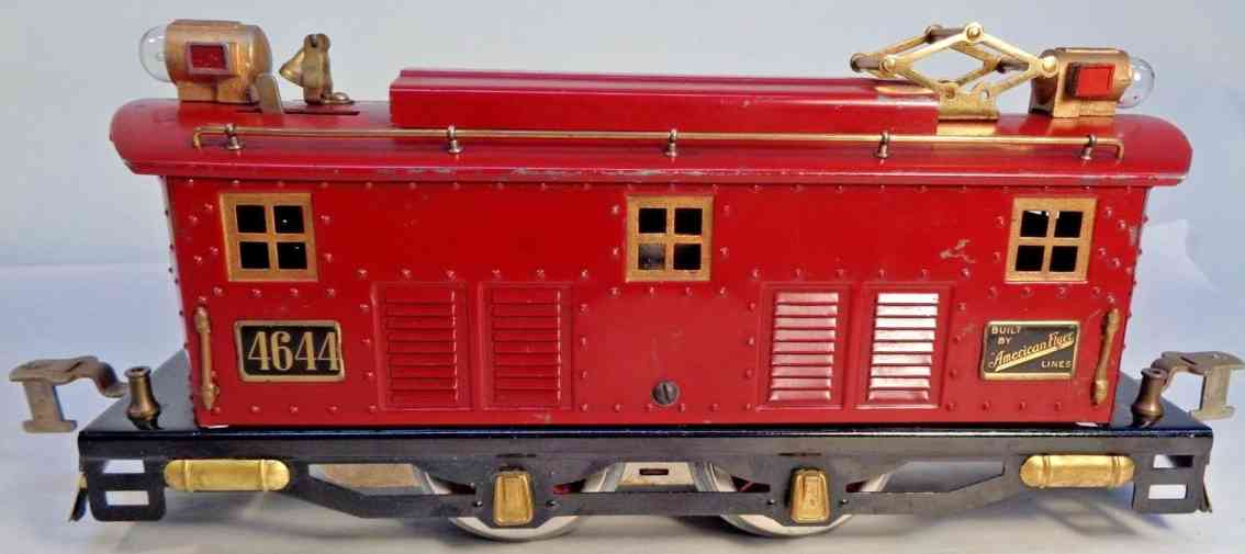american flyer toy company 4464 engine electric locomotive red brass gauge 0