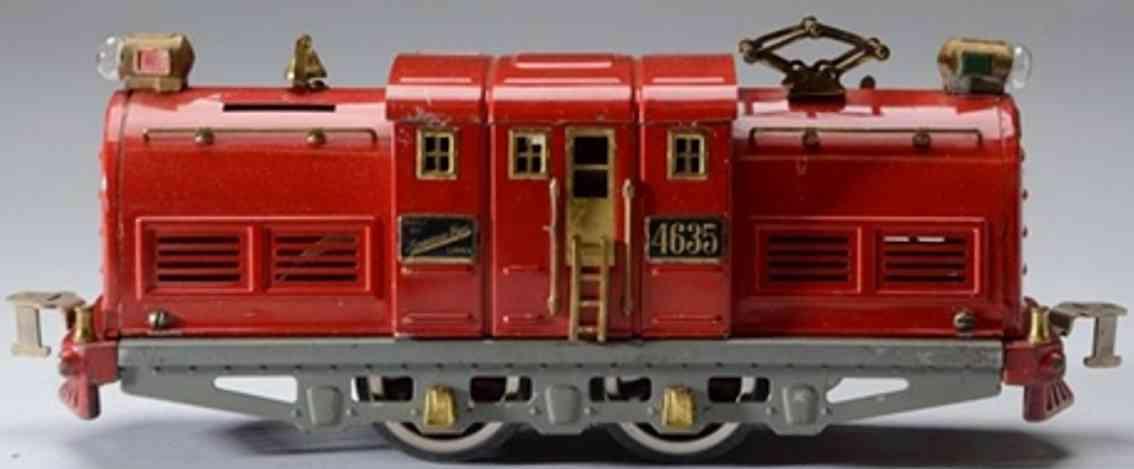 american flyer toy company 4635 railway toy engine locomotive red standard gauge