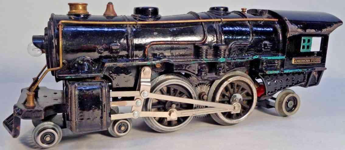 american flyer toy company 4670 cast iron toy engine steam locomotive black standard gauge
