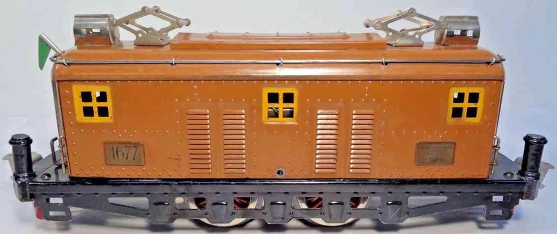 american flyer 4677 railway toy electric engine brown standard gauge
