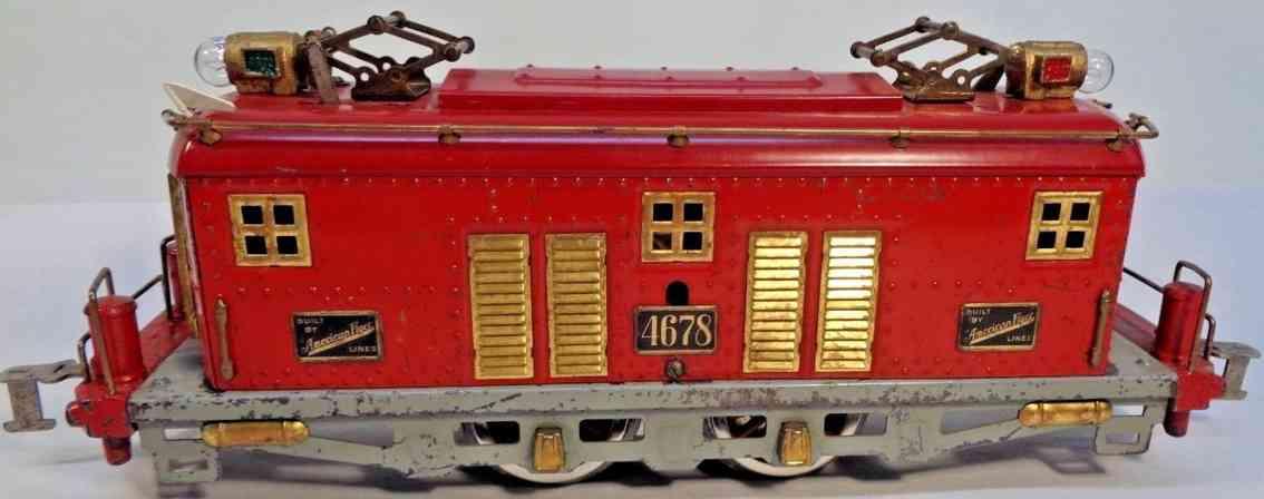 american flyer toy company 4678 hamiltonian elektrolokomotive rot standard gauge