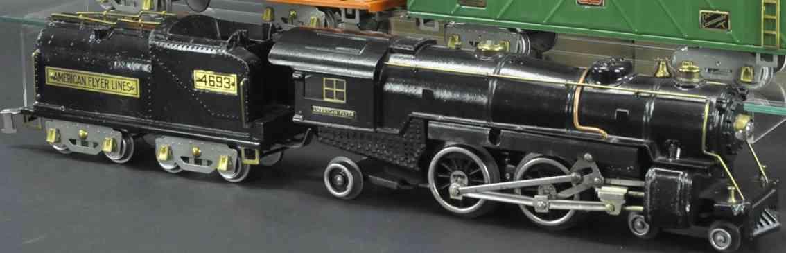 american flyer 4680 4693 elektrische dampflokomotive tender gusseisen schwarz wide gauge
