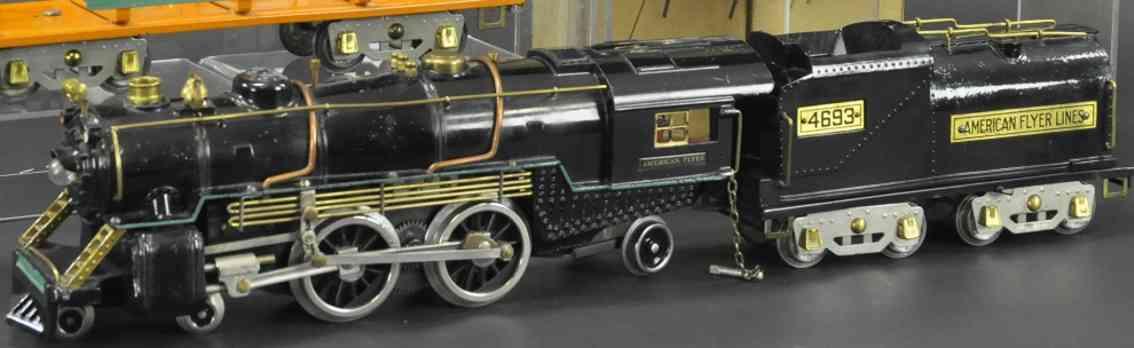 american flyer 4695 4693 eisenbahn lokomotive tender schwarz wide gauge