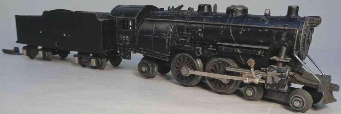 american flyer toy company 565 railway toy engine steam locomotive tender 564 gauge 0