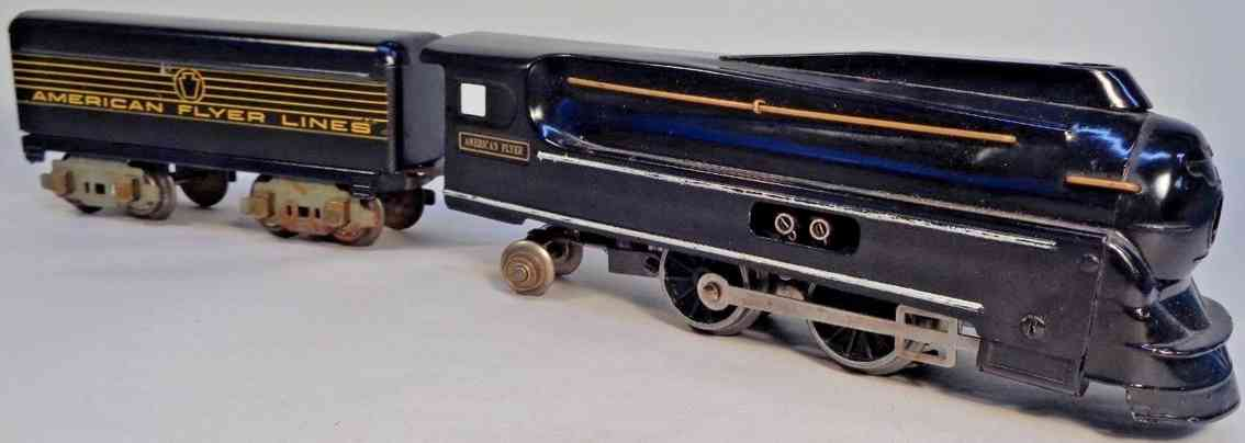 american flyer toy company 629 prr 1131 engine streamlined locomotive gauge 0