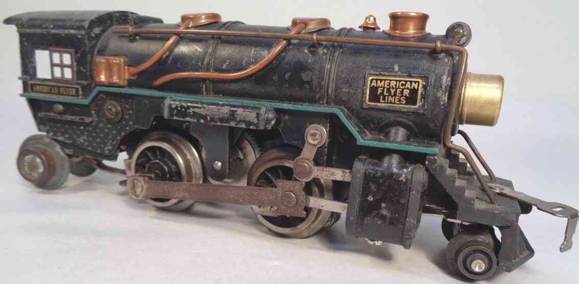 american flyer toy company 7715 railway toy die-cast engine steam locomotive black gauge 0