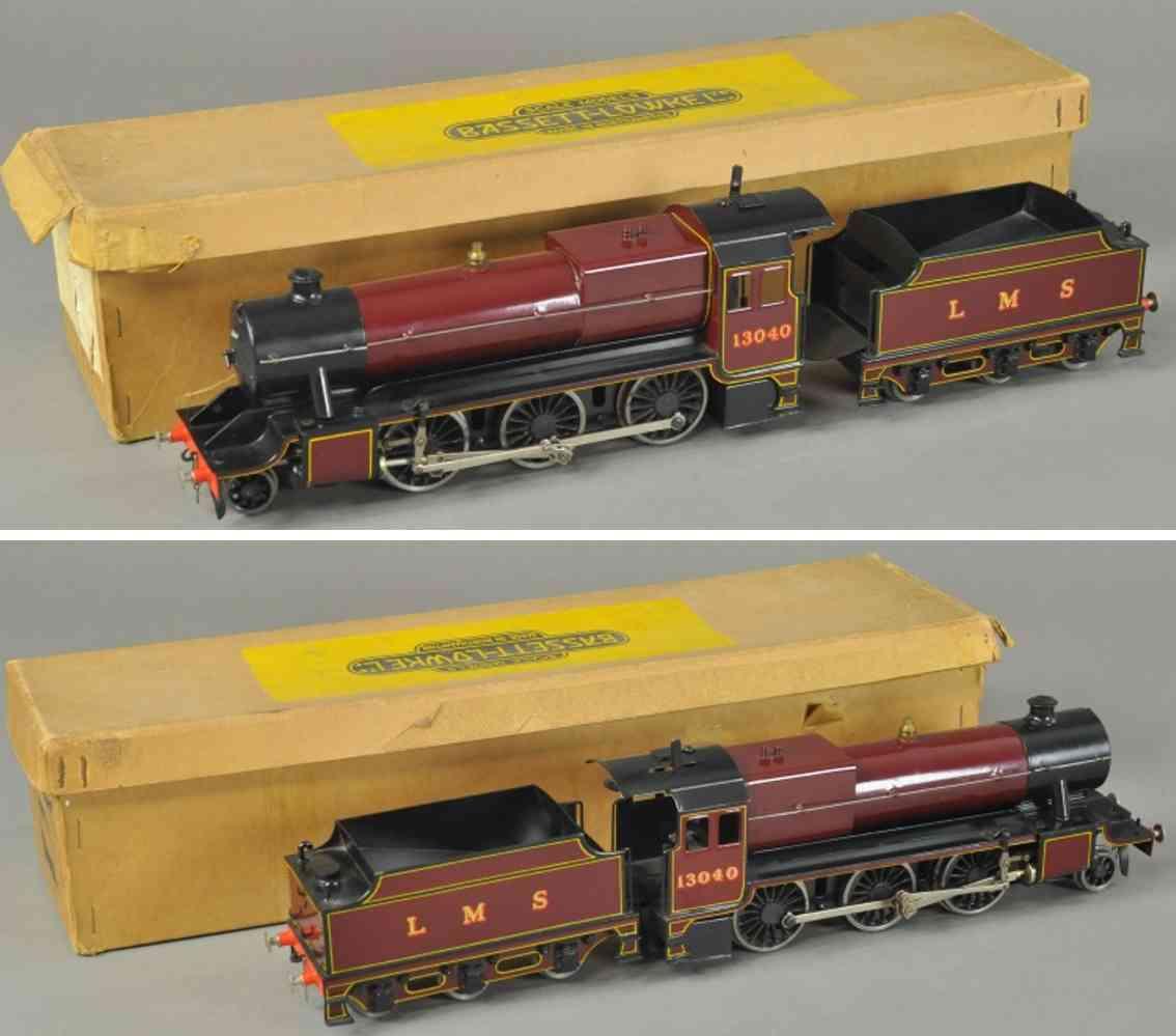 bassett-lowke 13040 echtdampflokomotive mogul lms braun schwarz spur 0