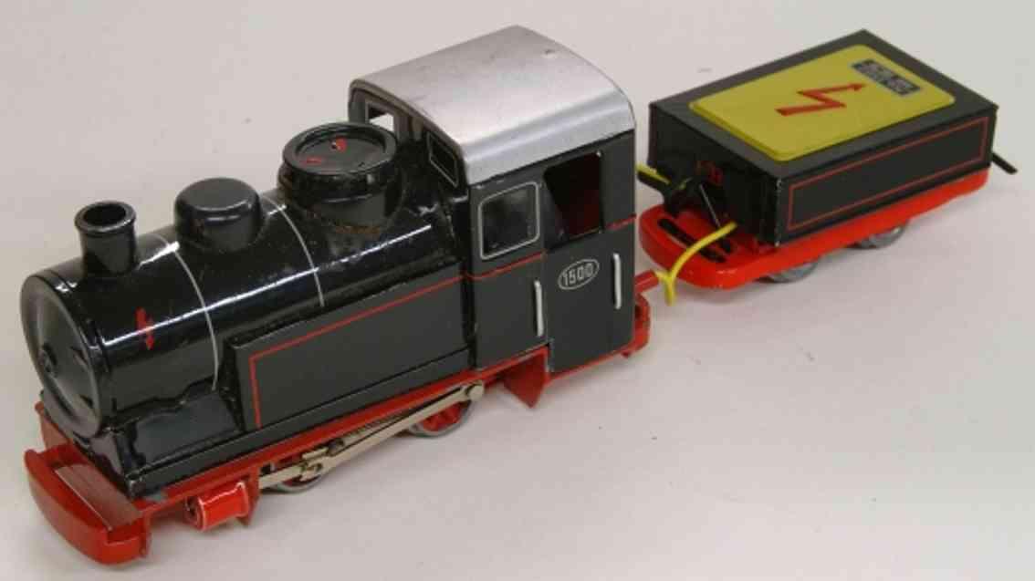 biller 1500 E spielzeug eisenbahn lokomotive schlepptenderlokomotive b mit 2-achsigem tender in schwarz,