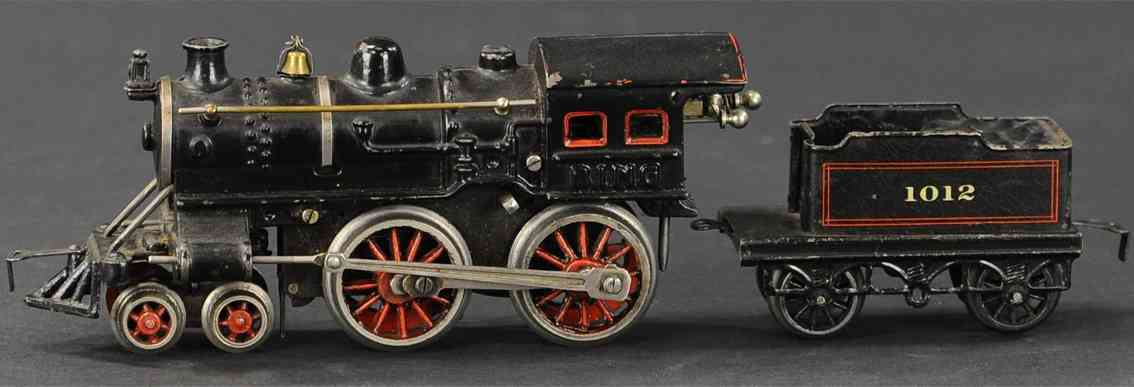 bing spielzeug eisenbahn amerikanische uhrwerklokomotive schwarz spur 0