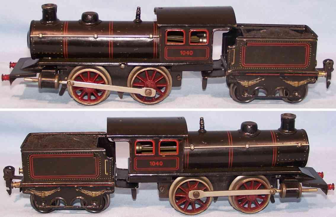 Bing 1040 Dampflokomotive mit Tender