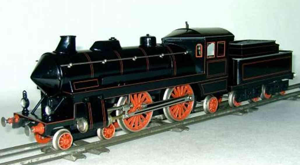 bing 11/226 spielzeug eisenbahn spiritus-dampflokomotive tender schwarz spur 1