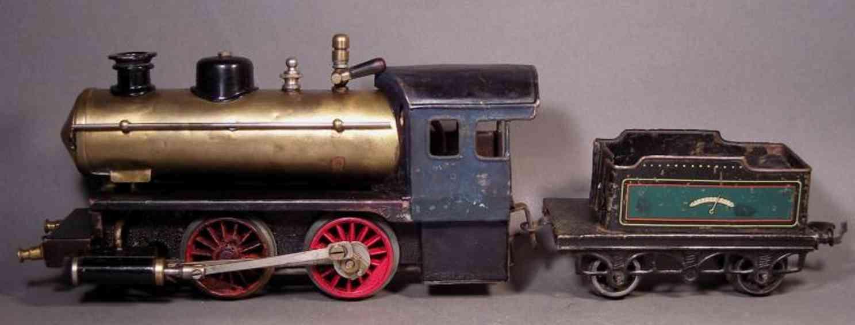 bing 11/24/0 spielzeug eisenbahn spiritus-dampflokomotive gruen schwarz spur 0