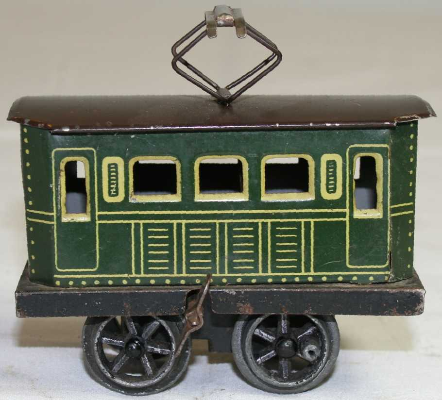 bing 11/376/0 railway toy engine clockwork railcar green gauge 0