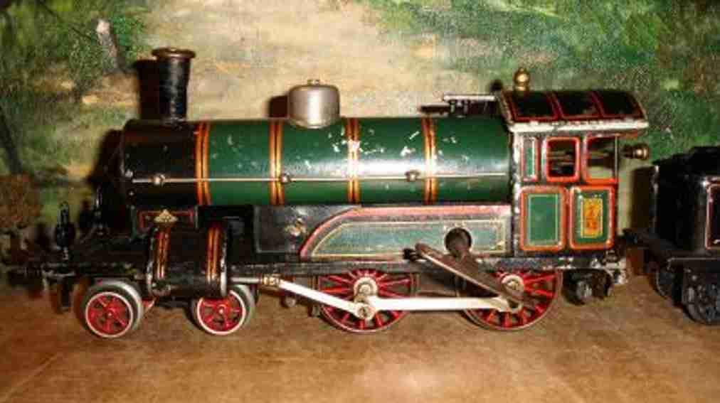 bing 11/413 171/2593 eisenbahn uhrwerk-dampflokomotive gruen schwarz spur 1