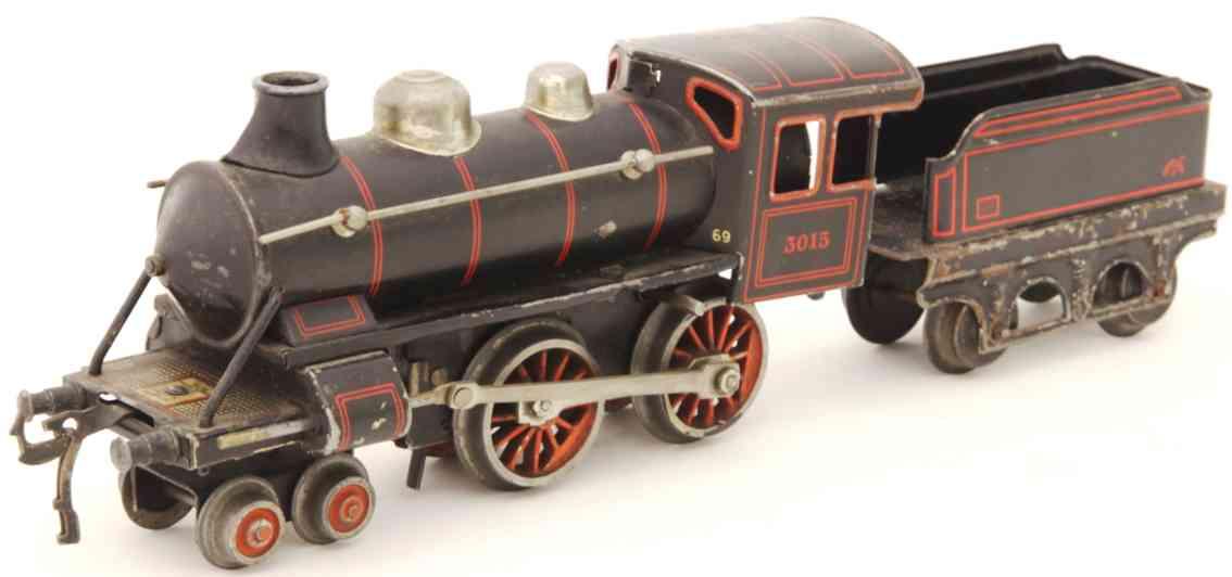 bing 11/417 railway toy engine clockwork-tender-locomotive gauge 0