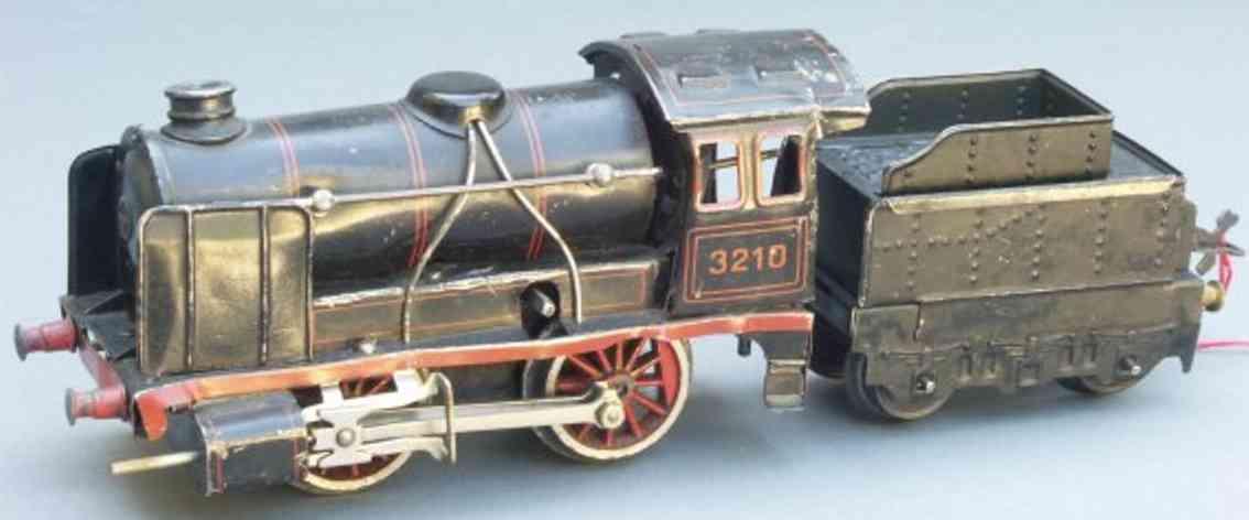 bing 11/4210 spielzeug eisenbahn uhrwerklokomotive schwarz spur 0