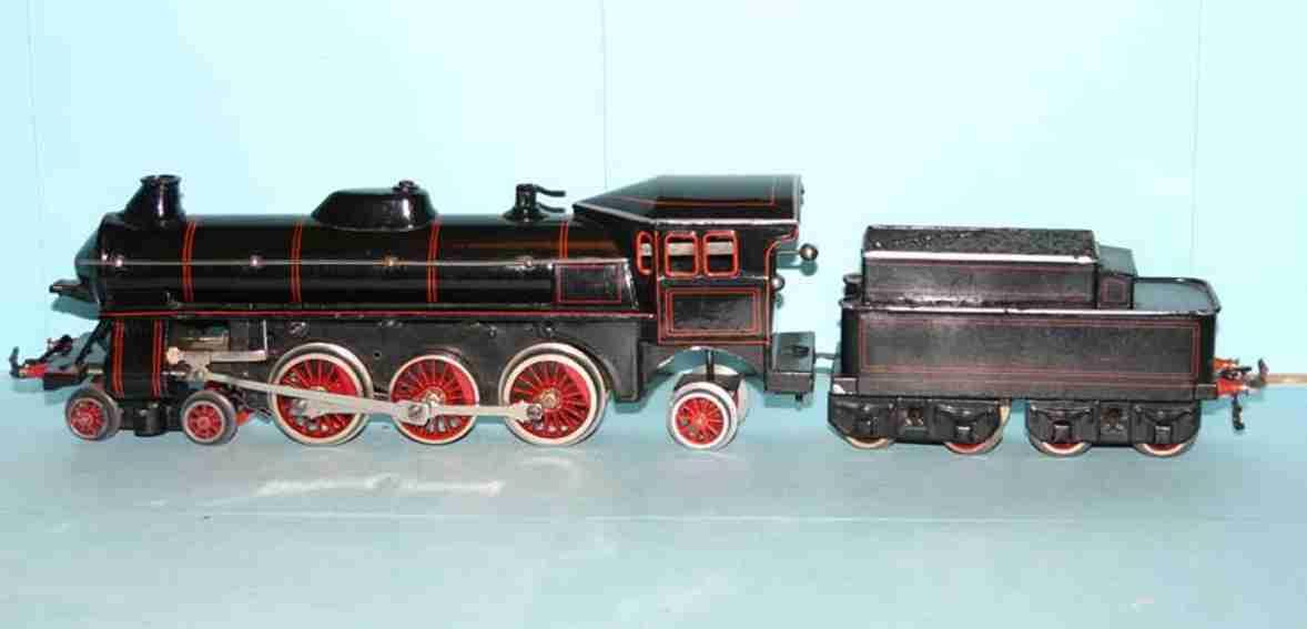 bing 11/427/0 eisenbahn uhrwerk-dampflokomotive schwaru spur 0