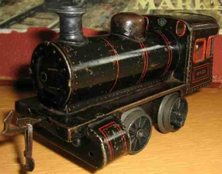bing 11/44 (170/3523) spielzeug eisenbahn lokomotive uhrwerk-dampflokomotive; 2-achsig grün und schwarz chromlith