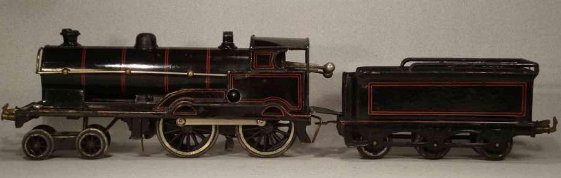 bing 11/441 spielzeug eisenbahn englische uhrwerk-dampflokomotive schwarz spur 0