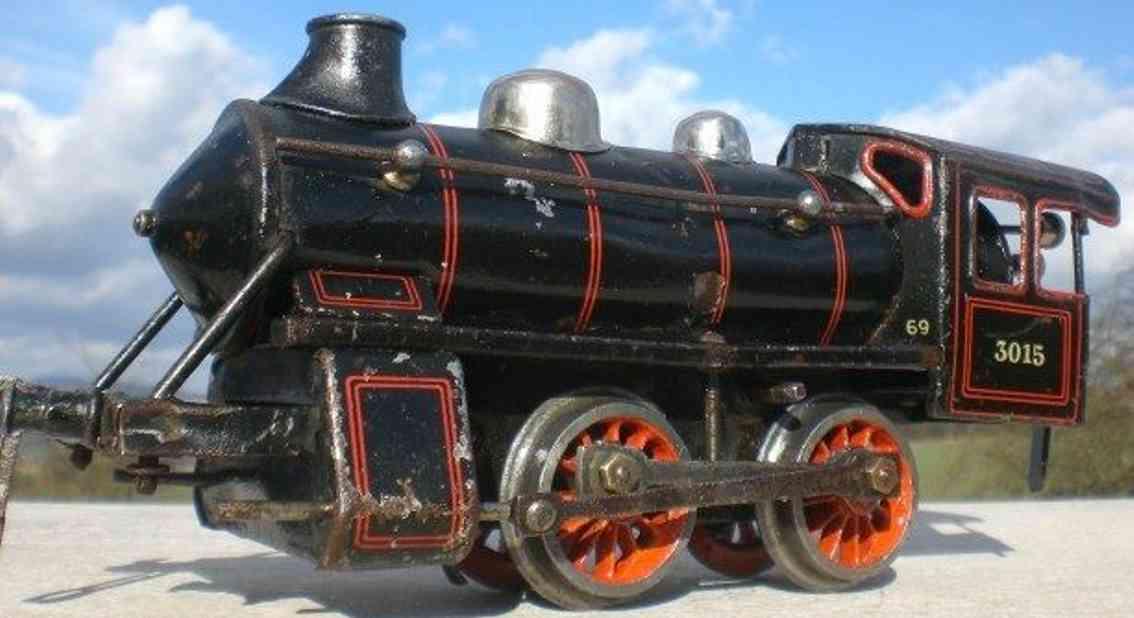bing 11/454 spielzeug eisenbahn uhrwerk-lokomotive schwarz spur 0