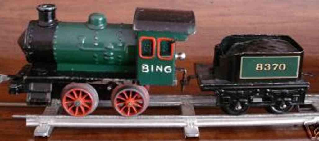 bing 11/460 spielzeug eisenbahn uhrwerk-dampflokomotive gruen schwarz spur 0