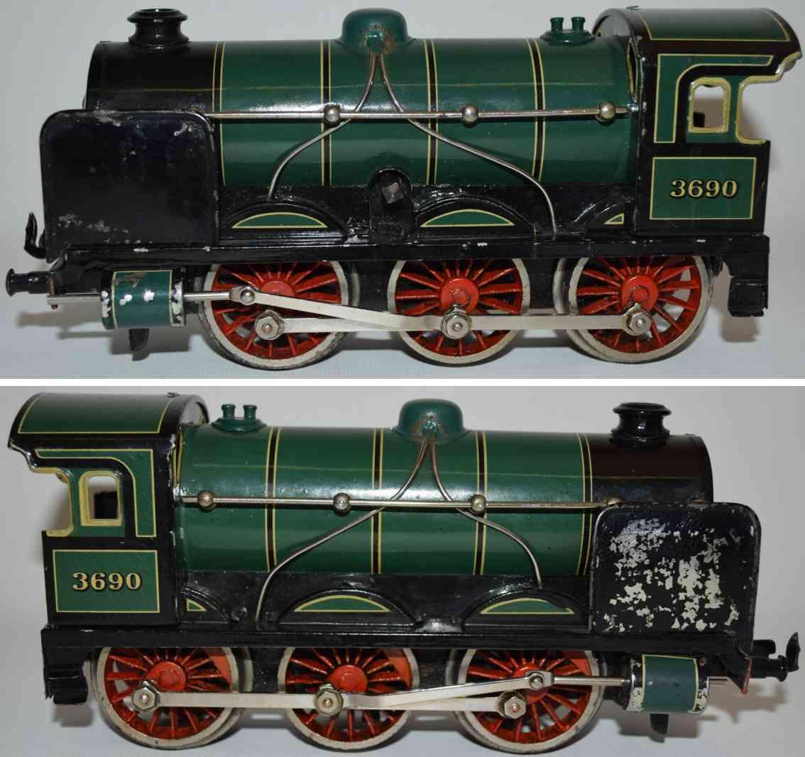 bing 11/469 spielzeug eisenbahn uhrwerk-dampflokomotive spur 0