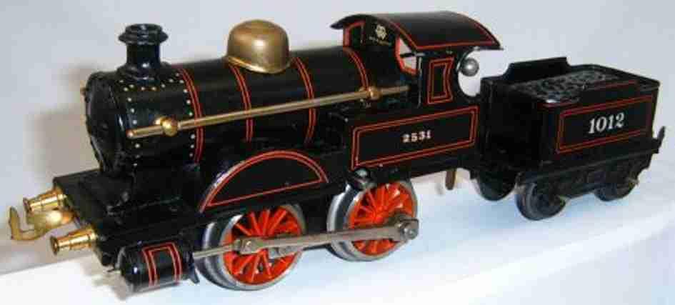 bing 11/47 spielzeug eisenbahn uhrwerk-dampflokomotive schwarz spur 0