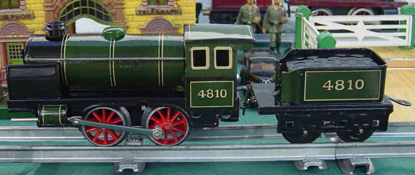 bing 11/481 spielzeug eisenbahn uhrwerkdampflokomotive schwarz spur 0