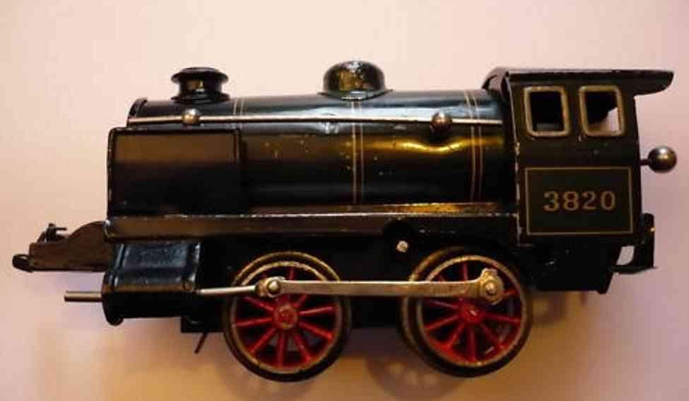 bing 11/482 spielzeug eisenbahn uhrwerkdampflokomotive schwarz spur 0