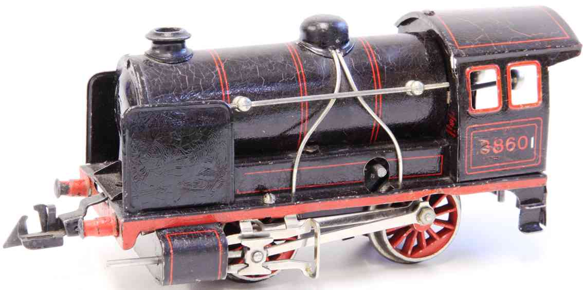 bing 11/486 railway toy engine clockwork locomotive gauge 0