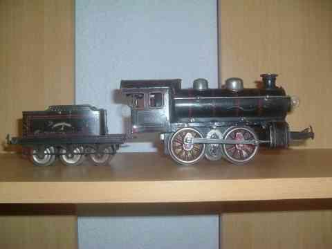 bing 11/63 spielzeug eisenbahn schwachstrom-dampflokomotive schwarz spur 0