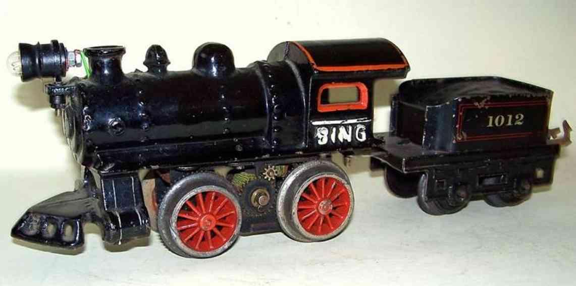 bing 11/630 eisenbahn amerikanische schwach-starkstrom-dampflokomotive spur 0