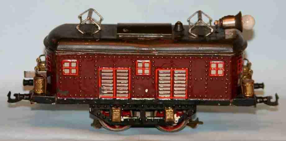 bing 11/635 spielzeug eisenbahn 16-volt rot vollbahnlokomotive spur 0