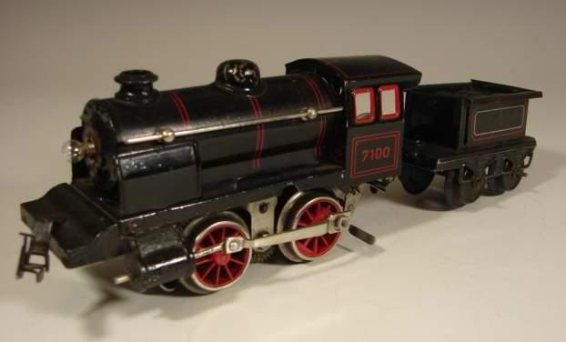 bing 11/8100 spielzeug eisenbahn lokomotive 18 volt dampflokomotive