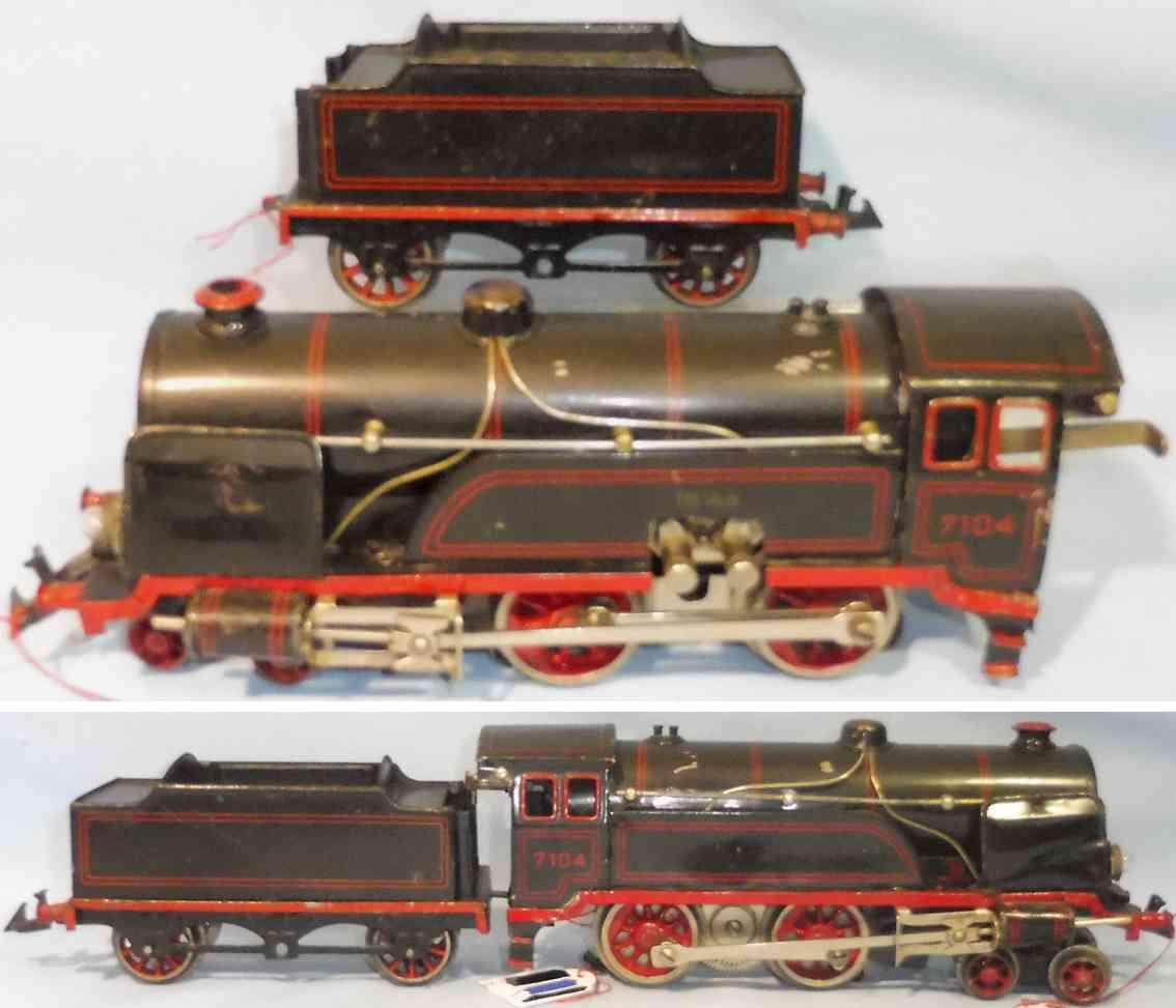 bing 11/8104 spielzeug eisenbahn dampflokomotive tender 18-volt spur 0