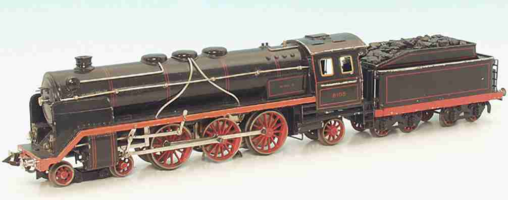 bing 11/8105 /1 spielzeug eisenbahn dampflokomotive schwarz rot spur 1