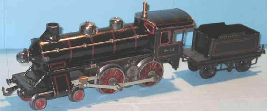 bing 11/820 spielzeug eisenbahn starkstrom-dampflokomotive schwarz spur 0