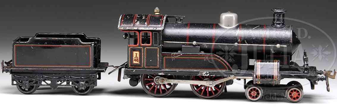 bing 11/825 spielzeug eisenbahn starkstrom-dampflokomotive schwarz spur 1