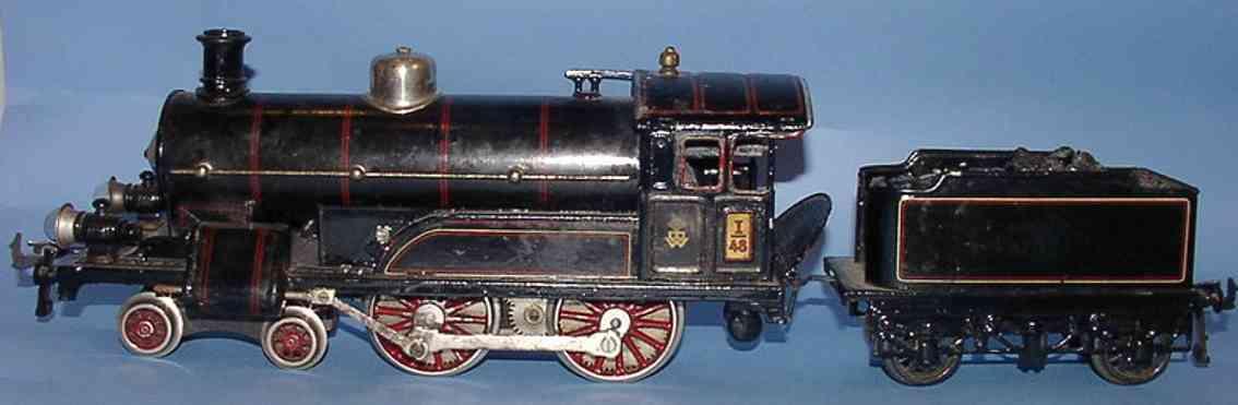 bing 11/825 spielzeug eisenbahn lokomotive starkstromdampflokomotive 2'b schwarz lithografiert; vor- un