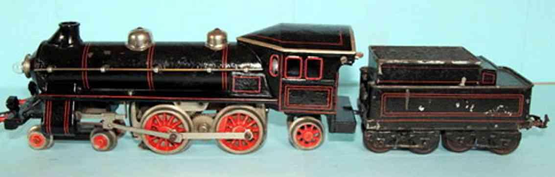 bing 11/826 spielzeug eisenbahn starkstrom-dampflokomotive schwarz spur 1